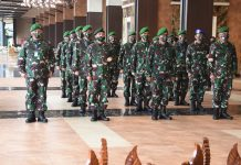 Kasad Terima Laporan Kenaikan Pangkat Wakasad dan 12 Perwira Tinggi TNI AD