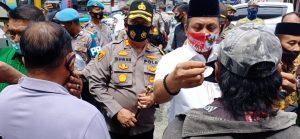Gelar Apel Kampanye Penggunaan Masker,Polres Batu Bara Ajak Masyarakat Patuhi Prokes