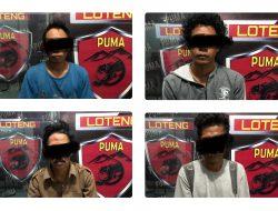 Tim Puma Polres Lombok Tengah Tangkap Empat Orang Penadah Sepeda Motor.