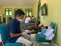 Penuhi Kebutuhan  Darah, Personel TNI di Perbatasan RI-RDTL Gelar Donor Darah