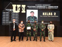 Tempuh Diklat di Vokasi UI, Perwakilan dari Kodam IX/Udayana Raih Ranking 1 Peserta Terbaik